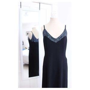 [ ST. JOHN EVENING ] Navy Blue Evening Gown